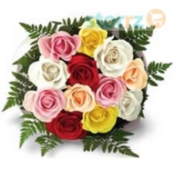 Lucky 7 Mix Color Rose Bunch