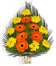 Orange N Yellow  Gerbera Basket