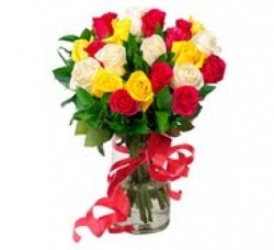 50 Multicolor Rose Bouquet