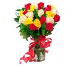 50 Multicolor Rose Bouquet