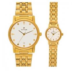 Titan Bandhan 617917YM07 Pair Watch
