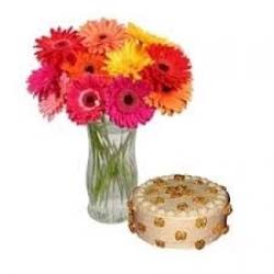 Flowers N Cake Combo 123