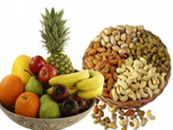 Fresh Fruit And Dry Fruit Gift