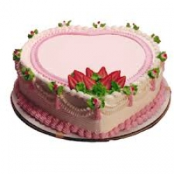 Strawberry Heart Shape Cake-