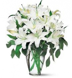 White Lilies  & Rose