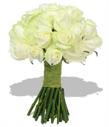 White Roses Hand Tied Bunch