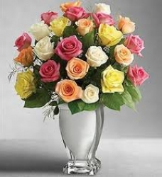 Mixed Color Rose  Arrangement