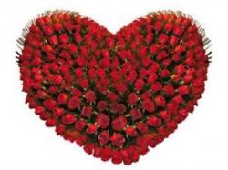 Heart Shape Red Rose Arrangment