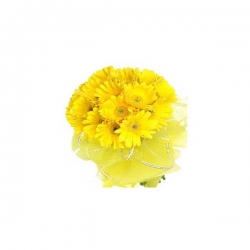 12 Yellow Gerbera Bouquet