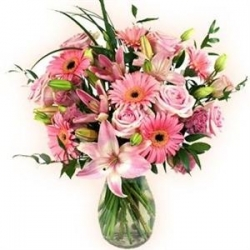 All Pink Vase Arrangement