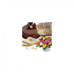 Assorted Dry Fruit And Flower Hamper
