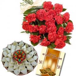 Carnation With Kaju Katli