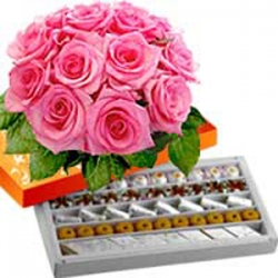 Mix  Sweets N Flower  Hamper