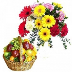 Flowers And Fruit Hamper