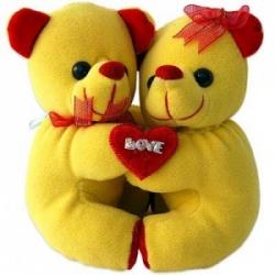 Valentine  Hugging Teddy
