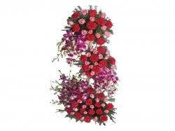 Arrangement Of  100 Mix Flowers
