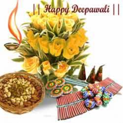 Diwali  Flower Hamper