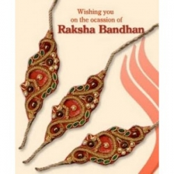 Designer Rakhi And Rakhi  Greeting Card