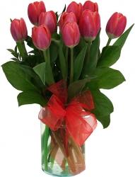 Red Tulip Arrangement