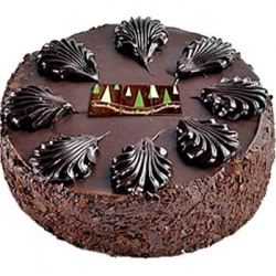 Eggless  Dark Chocolate Cake - 1/2Kg