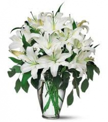 Perfect White Lilies Arrangement