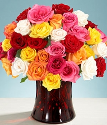 Multicolored Rose Arrangement