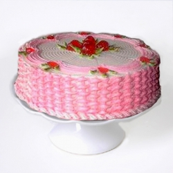 Eggless Strawberry Cake- 1/2 Kg