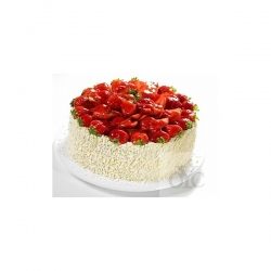 Eggless Strawberry Cake- 1 Kg