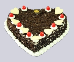 Heart Shape Black Forest Cake - 2Kg