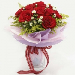12 China Red Roses Bouquet