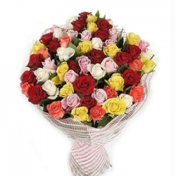 Dozen Mix Roses Bouquet