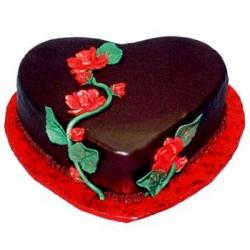 Heart Shape Chocolate Truffle Cake - 2 Kg