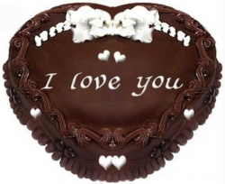 Heart Shape Chocolate Cake- 1kg