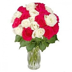 Red N White Rose Bouquet