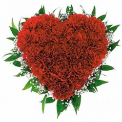 Heart Shape 100 Red Rose Bouquet