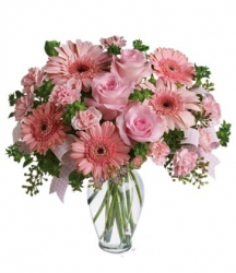 Pink Birthday Flower Bouquet