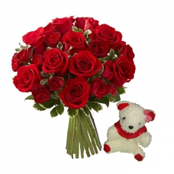 Teddy N Rose Bouquet