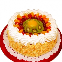 Fresh Fruit Cake- 9 Inches